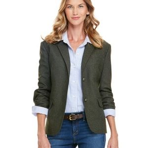 NWT Vineyard Vines Collegiate Dark Olive Blazer 8
